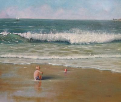 """""""Jugando en la playa"""". MARIA DEL CARMEN BARRENA"""