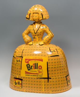 "ANTONIO AZZATO (Venezuela, 1973).""Menina; MEDIANA, Brillo"" (tributo a Warhol), 2019."