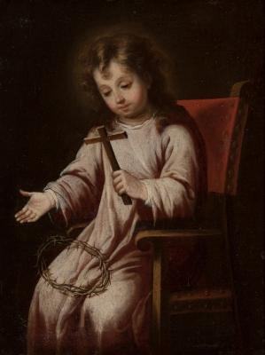 """Niño Jesús con atributos de la Pasión"" BERNARDO GERMÁN..."