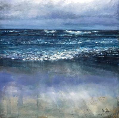 "CATALINA LANZA LÓPEZ (Ferrol, 1963).""Azul marino""."