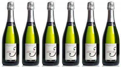 Lote de seis botellas Nicolas Maillart Platine Brut.