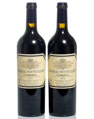 Dos botellas de Château Feytit-Clinet 2010.