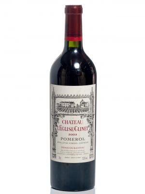 Una botella de Château L´Eglise  Clinet, 2003.