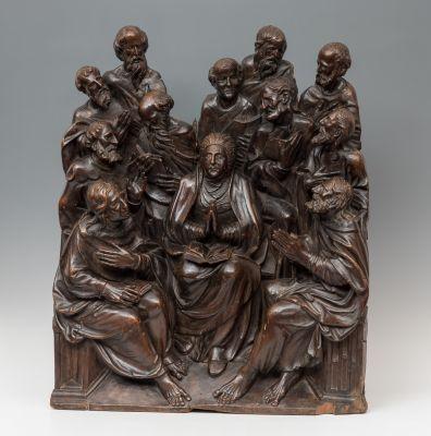 """""""Los dos apóstoles"""" Escuela francesa; finales del siglo..."""