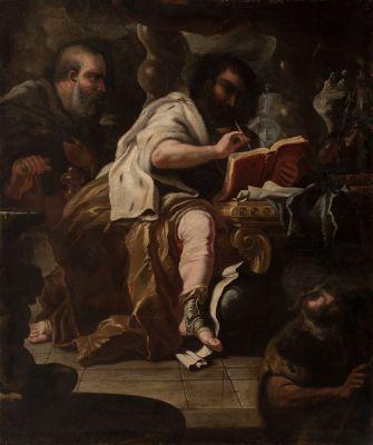 """""""Rey David"""". Escuela italiana, siglo XVII."""