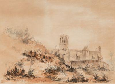 """MARIANO FORTUNY MARSAL (Reus, Tarragona, 1838 – Roma, 1874).""""Pedralbes""""."""