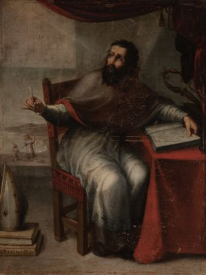 "Escuela española; siglo XVII.""Evangelista""."