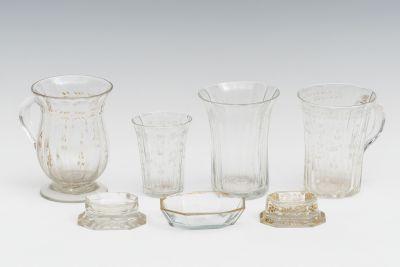 Conjunto de cristal de la Real Fábrica de la Granja; Pe...