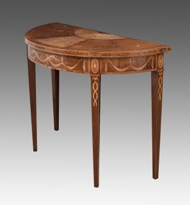 "Consola en madera de ""satinwood""."
