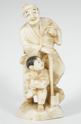Padre e hijo. Japón, principios del siglo XX.