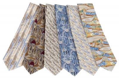 Conjunto de 6 corbatas inspiradas en Gaudí.