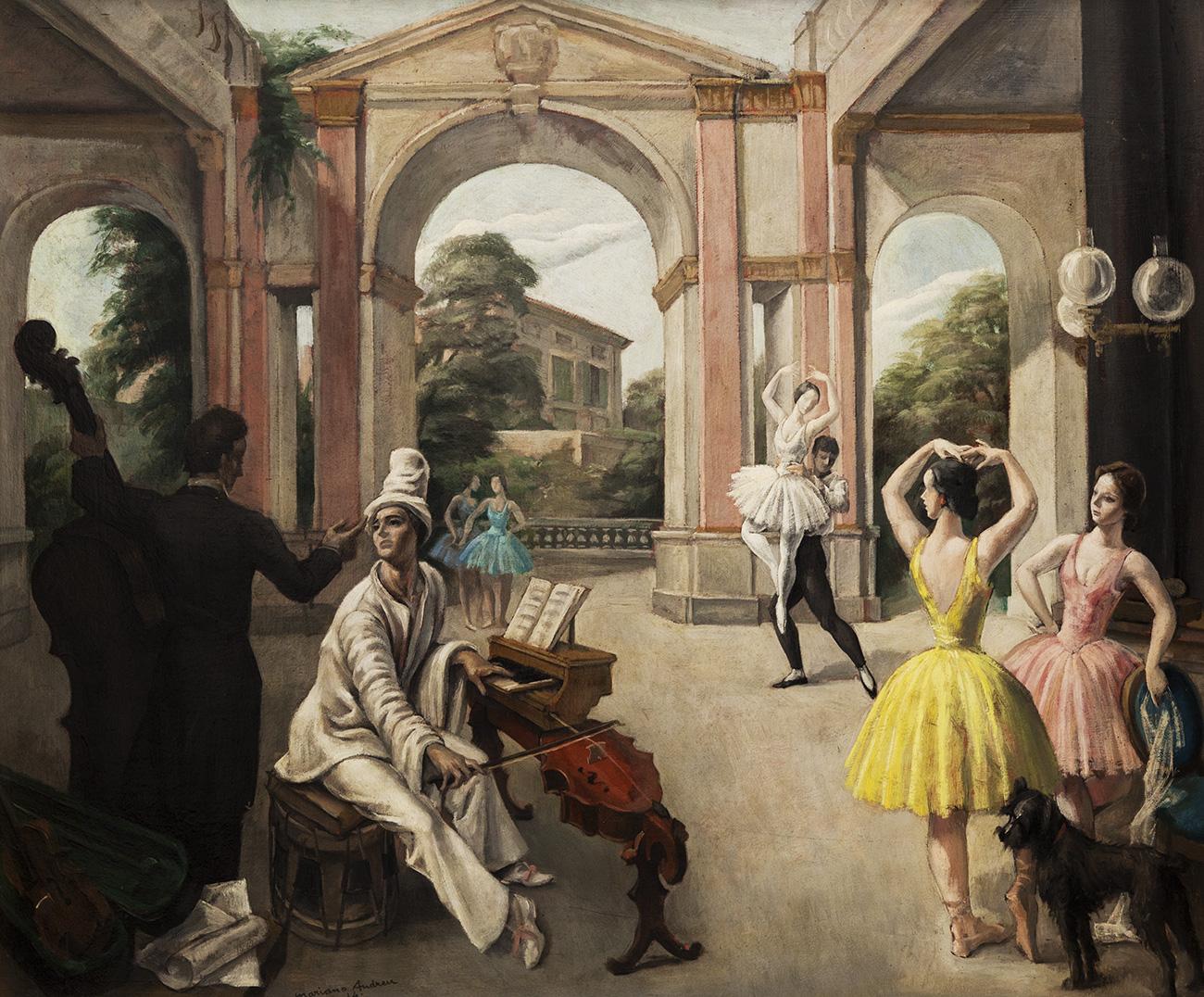 """""""Escena musical"""", 1934.  ANDREU ESTANY, Mariano"""