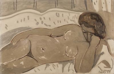 """""""Nu couchet (Desnudo reclinado)"""" BORES LÓPEZ, Francisco"""