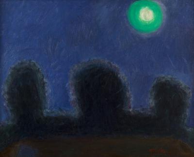 """Paisaje nocturno luna llena"" ÁNGELES ORTIZ, Manuel"