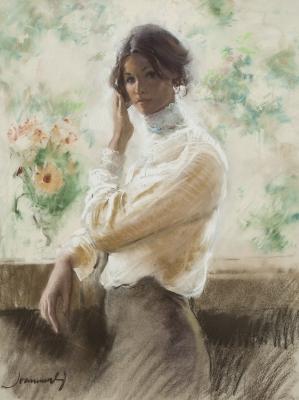 """""""Mujer en el balcón"""". MARTÍ ARAGONÉS, Joan"""