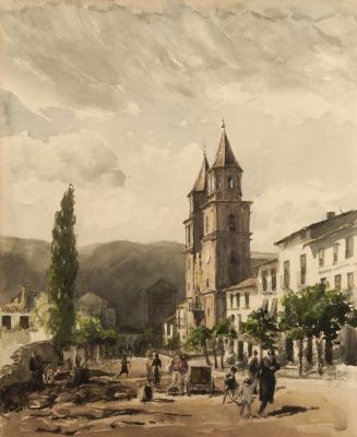 """Calle de pueblo"". COLOM I AGUSTÍ, Joan"
