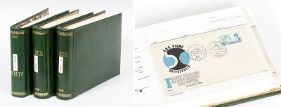 Colección de cartas y tarjetas circuladas y sin circular.