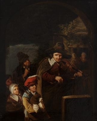 """""""Interior de taberna"""". VAN HEEMSKERCK, Egbert"""