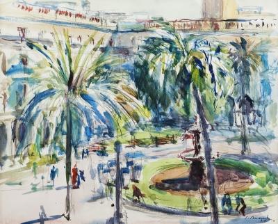 """""""Plaza"""", 1977. BUSOM GRAU, Simó"""