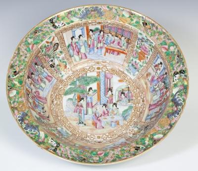 Cuenco chino estilo Familia Rosa, siglo XIX.