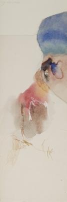 ELLIS JACOBSON (1925 - 2013)Acuarela y collage sobre papel.Firmado en el ángulo superior izquierdo.
