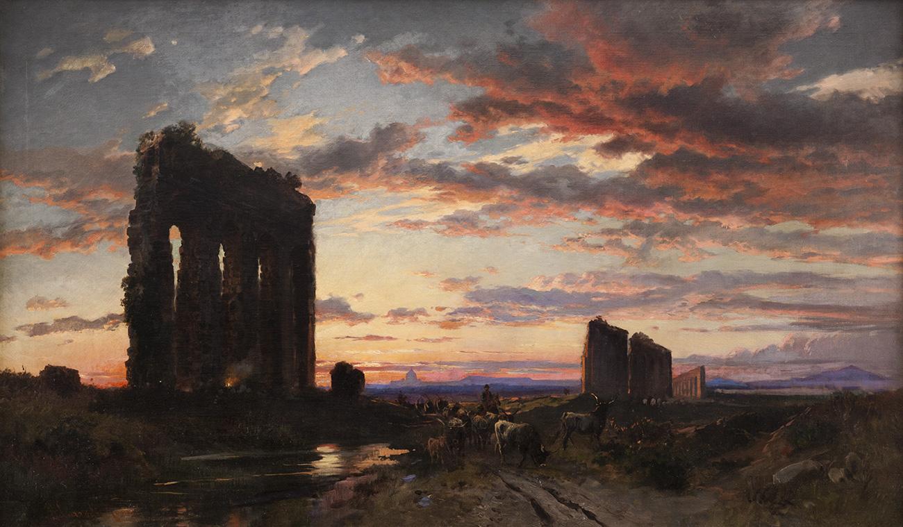 """CORRODI, Hermann David Solomon (Frascati, Italia, 1844 - Roma, 1905). """"Roma."""