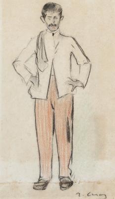 """""""Un camarero"""", ca. 1890. Ramón Casas Carbó"""