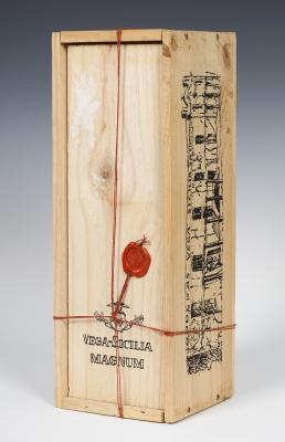 "Botella magnum de Vega-Sicilia ""Único"", Cosecha 1960."