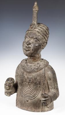 """""""Oba o Rey del Benín"""" Benín, mediados del siglo XX."""
