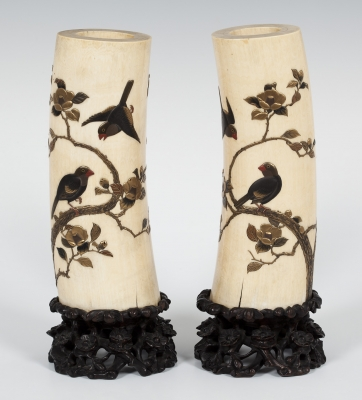 Pareja de jarrones. Japón, principios del siglo XIX.