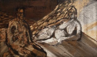 """""""El pintor y la modelo"""".  PUNTÍ CASTANY, Francesc"""