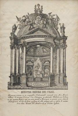 """""""Nuestra señora del Pilar"""" Escuela española del siglo XIX."""