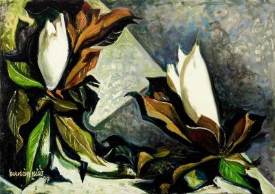 """Dos magnolias"", 1989. PICÓ RIBERA, Hernán"