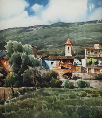"""""""Vista de pueblo"""". VILÀ CAÑELLAS, José María"""