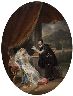 """Escena galante"". MALLET, Jean-Baptiste"