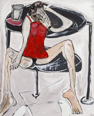 """""""Fumando"""", 2007. MACARRON, Rafa"""