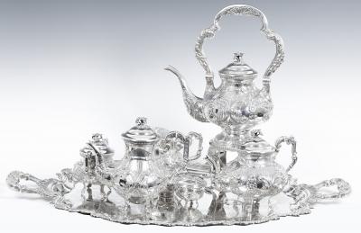 Juego de té y café de estilo barroco florido.