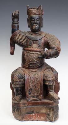 Figura de gobernante. China, siglo XIX.