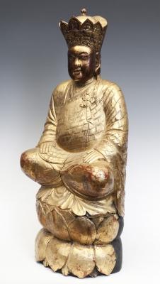 Figura coronada. China, siglo XIX.