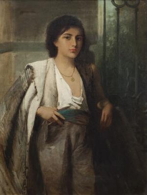 """""""Figura de joven"""" Escuela inglesa, finales del siglo XIX."""
