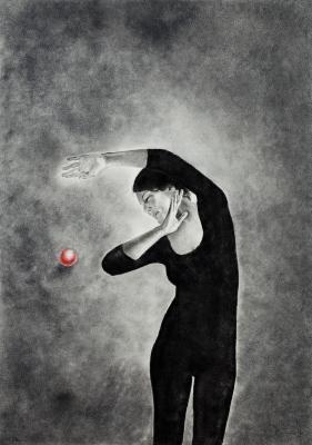 """Noia amb esfera vermella"" Josep Maria Gomis Poquet"