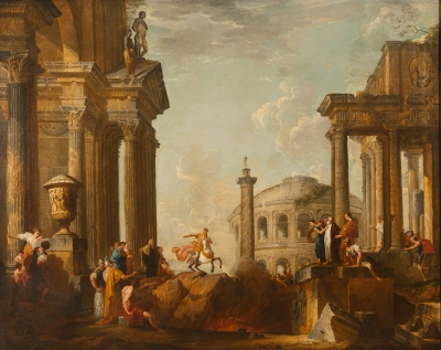 Follower of Giovanni Paolo Panini, (Italia, 1691-1765).
