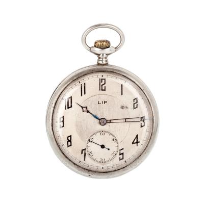 Reloj de bolsillo en plata de ley con una tapa