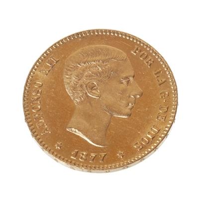 25 Ptas. del Rey D. Alfonso XII. Año 1877 (18-77)