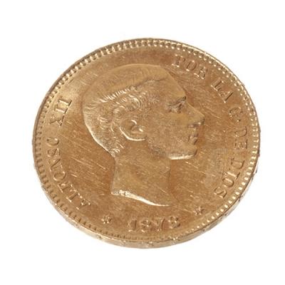 25 Ptas. del Rey D. Alfonso XII. Año 1878 (18-78).
