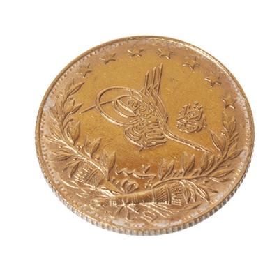 Moneda de 100 Kurush de Abdul Hamid II (1876-1909), Año Hegira 1327 (1909).
