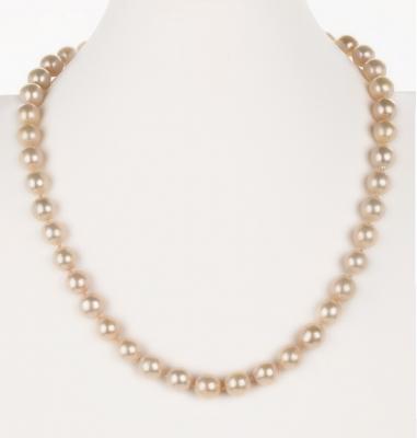 Collar de perlas cultivadas con cierre de oro amarillo