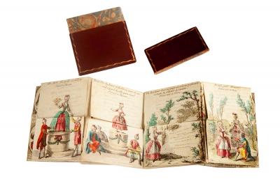 LE SÉRAIL A L'ENCAN. Almanach del siglo XVIII.