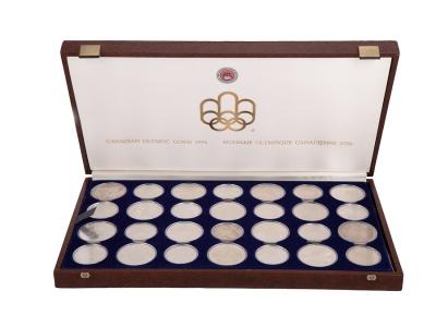 Conjunto 28 monedas de las Olimpiadas de Montreal 1976