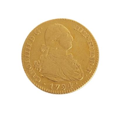 Moneda de dos escudos, Carlos IIII-MF-1794.